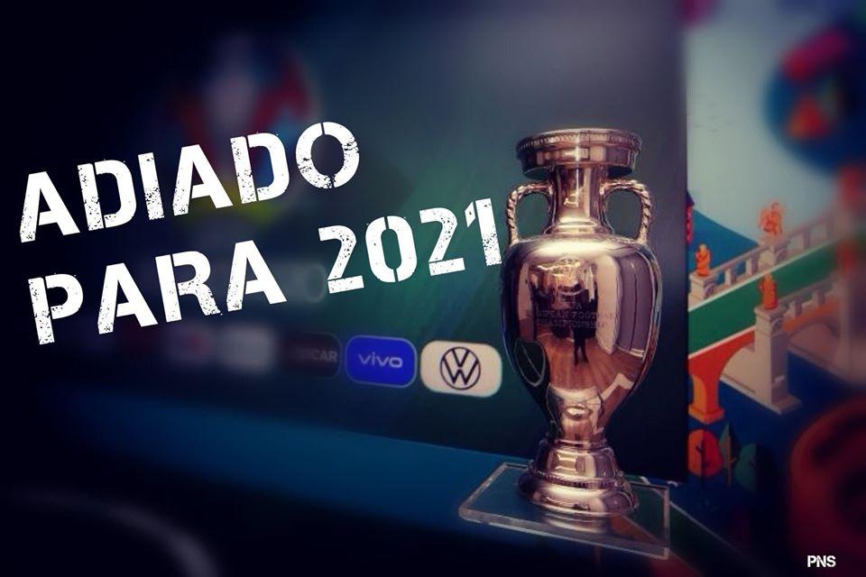Europeu de futebol adiado para 2021