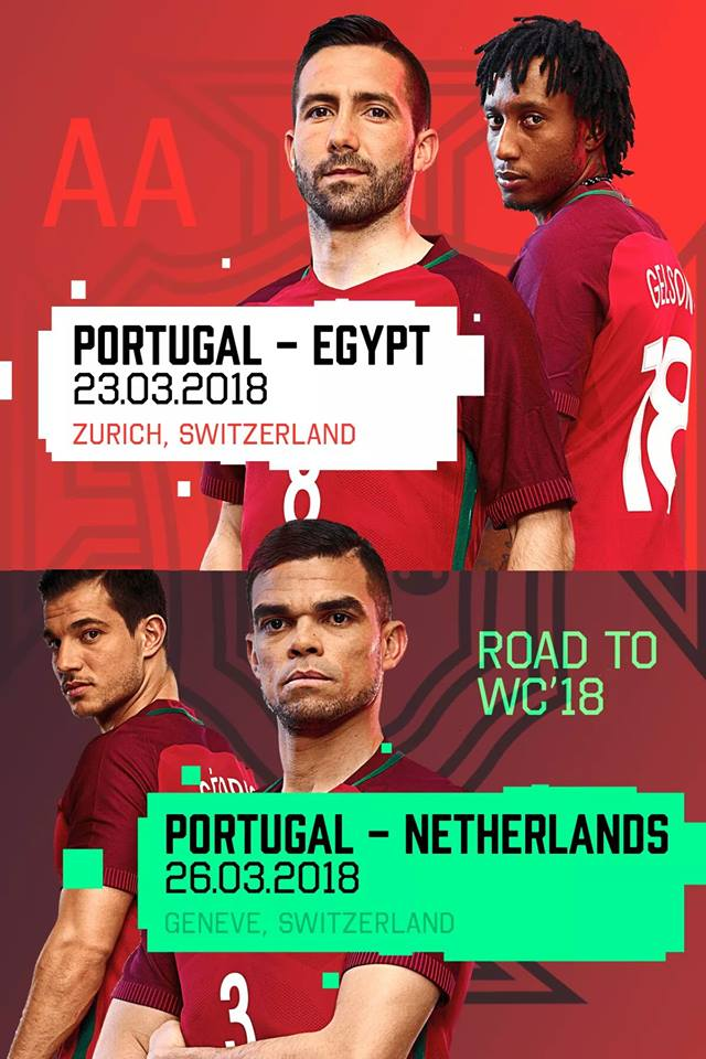 Seleção portuguesa de futebol terá dois jogos na Suíça