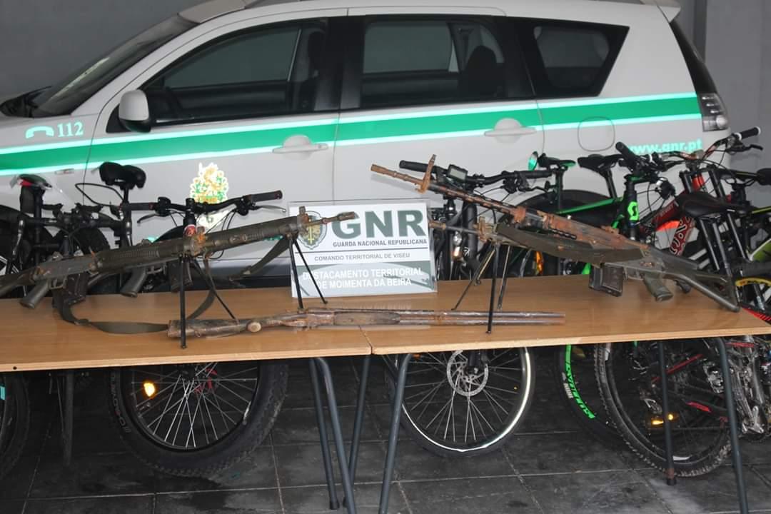 GNR apreende armas roubadas ao exército suíço