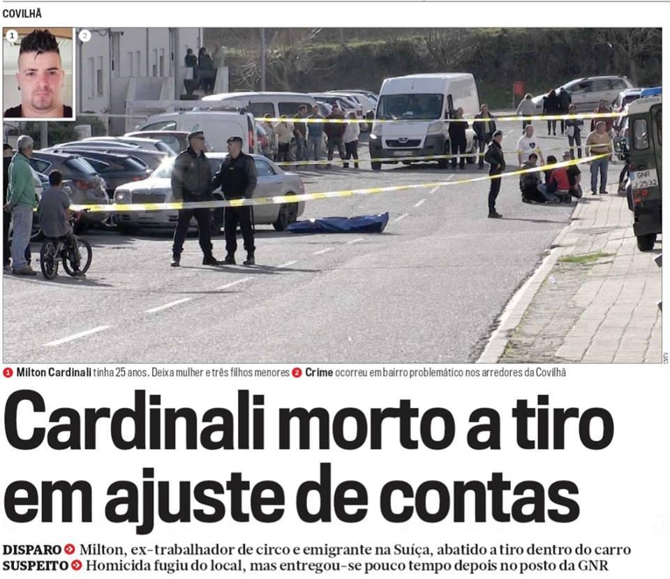 Emigrante na Suíça morto a tiro na Covilhã