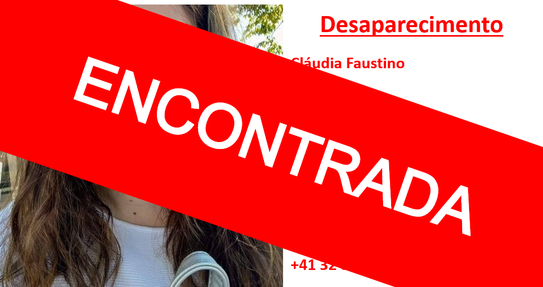 Jovem portuguesa desaparecida na Suíça