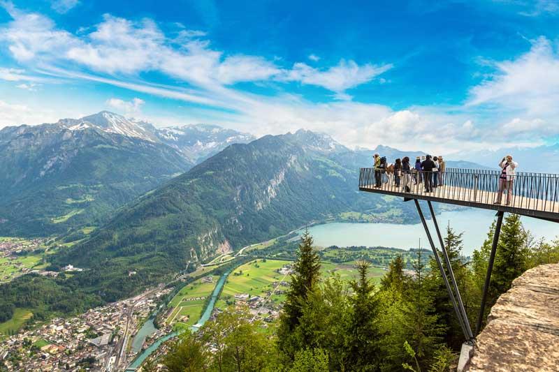 A charmosa cidade de Interlaken