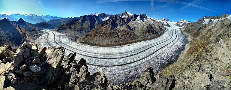 Conheça o maior glaciar dos Alpes