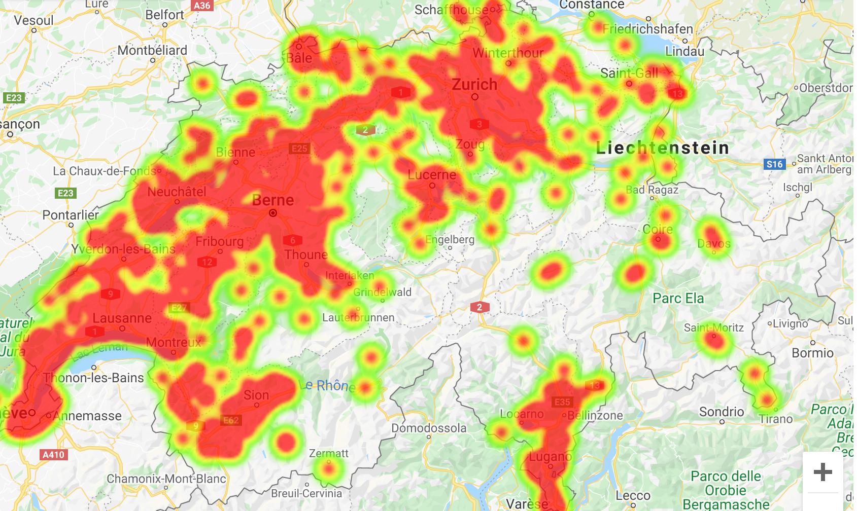 Covid-19: Mapa mostra focos de contágio