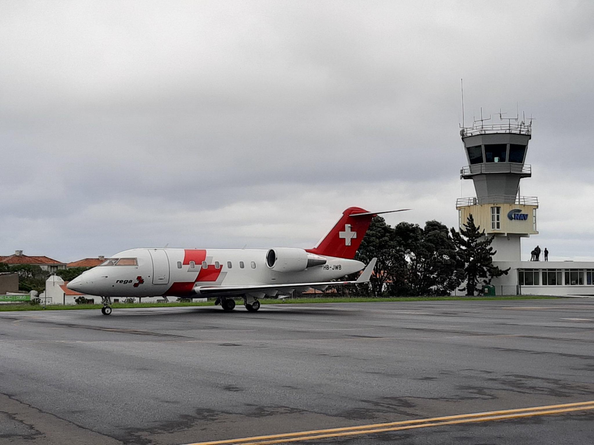 Avião-ambulância suíço resgata doente nos Açores