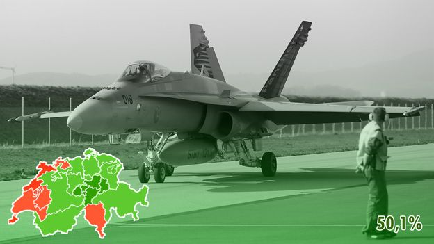 Votação: Suíços aprovam compra de novos aviões de combate