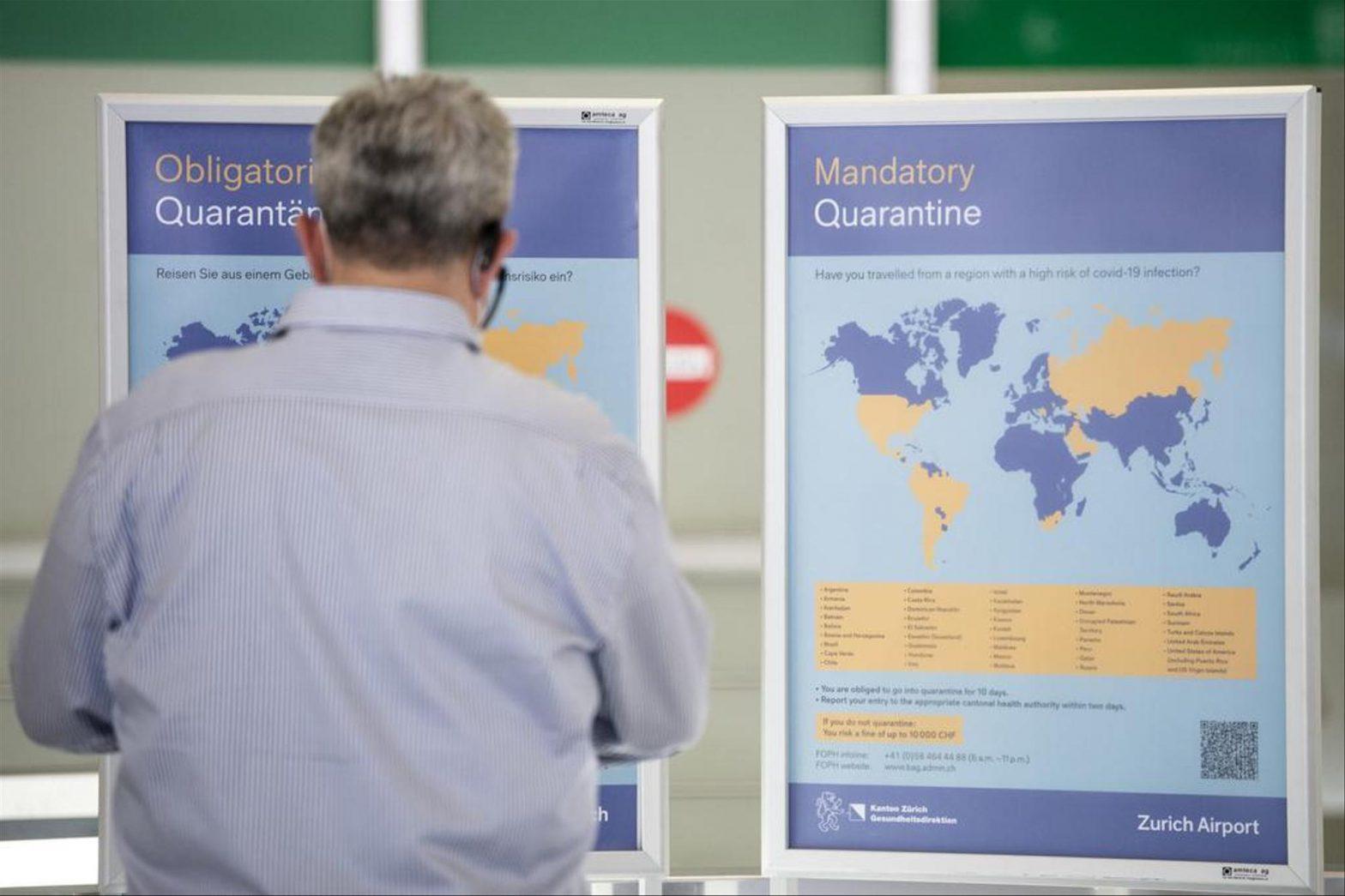 Suíça mantém Portugal na sua lista de destinos de alto risco de contágio